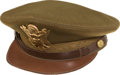 Military & Patriotic:WWII, General Chennault's Visor Hat With Signed Card From Naval Relief Fund Auction...
