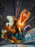 Original Comic Art:Covers, Bob Larkin The Fantastic Four Painted Book CoverIllustration Original Art (Fireside/Simon and Schuster, 1979)....