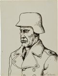 Original Comic Art:Sketches, Robert Crumb Stormtrooper Sketch Original Art (c. 1967)....