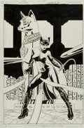 Original Comic Art:Covers, Paul Gulacy and Jimmy Palmiotti Catwoman #31 Cover OriginalArt (DC, 2004)....