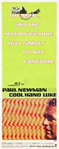 "Movie Posters:Drama, Cool Hand Luke (Warner Brothers, 1967). Insert (14"" X 36"").. ..."