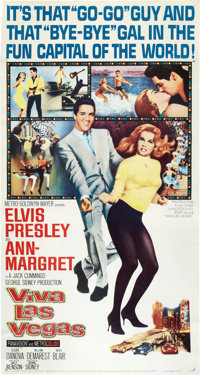 "Viva Las Vegas (MGM, 1964). Three Sheet (41"" X 81"")"
