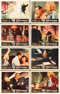 "Goldfinger (United Artists, 1964). Lobby Card Set of 8 (11"" X 14""). ... (Total: 8 Items)"