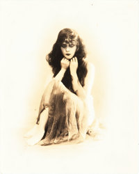 """Theda Bara in A Fool There Was (Fox, 1914). Portrait Photo (8"""" X 10"""")"""
