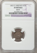Seated Half Dimes, 1853-O H10C Arrows--Bent--NGC Details. XF. NGC Census: (0/72). PCGSPopulation (4/85). Mintage: 2,200,000. Numismedia Wsl. ...