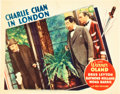 """Movie Posters:Mystery, Charlie Chan in London (Fox, 1934). Lobby Card (11"""" X 14"""").. ..."""