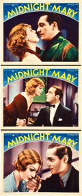 """Movie Posters:Crime, Midnight Mary (MGM, 1933). Lobby Cards (3) (11"""" X 14"""").. ...(Total: 3 Items)"""