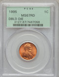 Lincoln Cents: , 1995 1C Doubled Die Obverse MS67 Red PCGS. PCGS Population(2745/2659). NGC Census: (9179/6165). Numismedia Wsl. Price for...