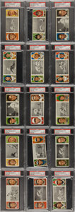 Baseball Cards:Sets, 1912 T202 Hassan Triple Folders Partial Set (78/132) - #14 on thePSA Set Registry....