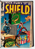 Silver Age (1956-1969):Superhero, Nick Fury, Agent of S.H.I.E.L.D. #1-15 Partial Issues Bound Volume (Marvel, 1968-69)....