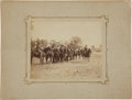 Military & Patriotic:Indian Wars, C. 1879 Albumen Image of Troopers of the 2nd U. S. Cavalry....