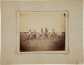 Military & Patriotic:Indian Wars, Very Rare Albumen View of Mounted Indians, Likely US Amy Scouts1879...