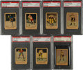 Hockey Cards:Lots, 1951 Parkhurst Hockey PSA Mint 9 Group (7) - Four Pop One of OneCondition Rarities!...