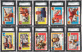 Football Cards:Lots, 1955 Topps All-American Football SGC-Graded 88 NM-MT and SGC 92 NM-MT+ Collection (26). ...