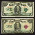 Canadian Currency: , DC-25g $1 1923.. DC-25j $1 1923.. ... (Total: 2 notes)