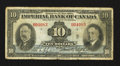 Canadian Currency: , Toronto, ON- The Imperial Bank of Canada $10 Nov. 12, 1934 Ch. #375-22-06. ...