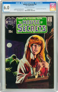 Bronze Age (1970-1979):Horror, House of Secrets #92 (DC, 1971) CGC FN 6.0 Off-white to whitepages....