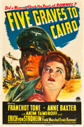 """Movie Posters:War, Five Graves to Cairo (Paramount, 1943). One Sheet (27"""" X 41"""").. ..."""