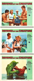"""Movie Posters:Horror, Revenge of the Creature (Universal International, 1955). Lobby Cards (3) (11"""" X 14"""").. ..."""