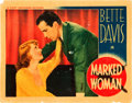 "Movie Posters:Crime, Marked Woman (Warner Brothers, 1937). Lobby Card (11"" X 14"").. ..."