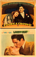 "Movie Posters:Drama, Green Light Lot (Warner Brothers, 1937). Lobby Cards (2) (11"" X14"").. ... (Total: 2 Items)"