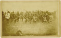Photography:Official Photos, PINE RIDGE GHOST DANCE FOUR DAYS BEFORE WOUNDED KNEE. This dramatic image, depicting a frenzied Ghost Dance by at least 75 r... (Total: 1 Item)