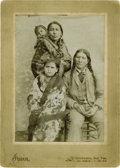Photography:Cabinet Photos, APPEAHTONE, KIOWA CHIEF, AND FAMILY. Large, handsome cabinet imageproduced by William Irwin of Chickasha, Indian Territory,...(Total: 1 Item)