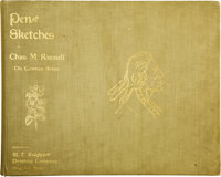 Pen Sketches By Charles M. Russell The Cowboy Artist. (Great Falls, Montana: W.T. Ridgley Printing Company, nd), 12