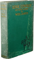 Books:Signed Editions, Will James: With an Excellent Six-Line Inscription from Will James,in a Handsome First Edition Copy of Lone Cowboy: My Life...