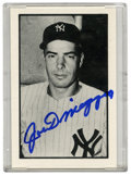 Autographs:Sports Cards, Joe DiMaggio Signed Trade Card. New York Yankees HOF great - JoeDiMaggio - has added his flawless blue sharpie signature t...