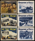 """Movie Posters:War, World War II Lobby Card Lot (Various, 1943-1944). Lobby Cards (6)(11"""" X 14""""). War.... (Total: 6 Items)"""