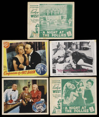 "Exploitation Lobby Card Lot (Various, 1935-1970). Herald (13.75"" X 18"") and Lobby Cards (5) (11"" X 14&quo..."