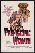 "Movie Posters:Adventure, Prehistoric Women (20th Century Fox, 1966). One Sheet (27"" X 41"").Adventure. ..."