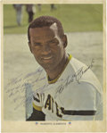 Autographs:Photos, 1972 Roberto Clemente Signed Photograph Dated to 3,000th Hit Game!Who could have possibly known, when the great Roberto Cl...