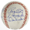 Autographs:Baseballs, Los Angeles Dodgers Multi-Signed Adult Fantasy Camp Baseball Signedby 11. Many adult fans of the Los Angeles Dodgers dream...