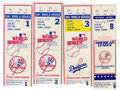 Baseball Collectibles:Tickets, 1981 MLB Postseason Ticket Stubs Lot of 5. Five postseason ticketstubs from 1981 Fall baseball in New York. Eastern Divis...