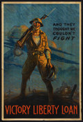 "Movie Posters:War, World War I Propaganda Poster (U. S. Government, 1919). VictoryLiberty Loan Poster (20"" X 30""). ""And They Thought We Couldn..."