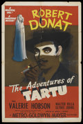 "Movie Posters:War, The Adventures of Tartu (MGM, 1943). One Sheet (27"" X 41"") Style D.War. ..."