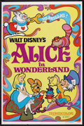 "Movie Posters:Animated, Alice in Wonderland (Buena Vista, R-1981). One Sheet (27"" X 41"").Animated. ..."