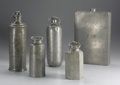 Silver Holloware, Continental:Holloware, A Group of Five Pewter Containers. Various makers, Germany andEngland. Nineteenth and Twentieth Centuries. Pewter. Variou...(Total: 5 )