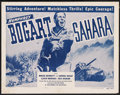 "Movie Posters:War, Sahara (Columbia, R-1948). Half Sheet (22"" X 28""). War. ..."