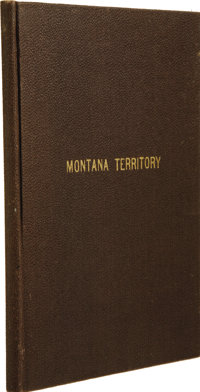 [MONTANA TERRITORY]. [Anonymous]. Reminiscences of the Son of Capt. Calvin C. Howes, with the Last Chapter being Extract...