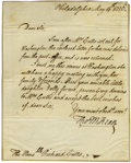"Autographs:Statesmen, Thomas McKean Autograph Letter Signed ""Tho M:Kean,"" onepage, 8"" x 10"". Philadelphia, May 14, 1816. To ""The Honorable..."