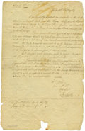 "Autographs:Statesmen, James Smith Autograph Letter Signed ""Ja Smith,"" one page,8.5"" x 13"". York, February 12, 1784. Addressed by Smith on ver..."