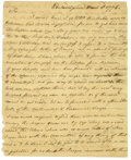 "Autographs:Statesmen, William Whipple Autograph Letter Signed ""Wm. Whipple,"" twopages, 7.25"" x 9"", front and verso. Philadelphia, March 2, ..."
