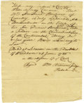 "Autographs:Statesmen, William Williams Autograph Document Signed ""Wm WilliamsJudge/Probate,"" one page, 6"" x 7.5"". Lebanon, District ofWindha..."