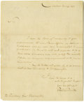 "Autographs:Statesmen, Edward Livingston Autograph Letter Signed ""EdwardLivingston,"" one page, 7.25"" x 9"". New York, November 26, 1785.To ""..."