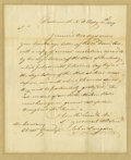 "Autographs:Statesmen, John Langdon Autograph Letter Signed ""John Langdon,"" onepage, 8"" x 9.75"". Portsmouth, N.H., February 11, 1807. Integral..."