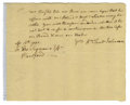 "Autographs:Statesmen, William Samuel Johnson Autograph Letter Signed ""Wm SamlJohnson,"" one page, 7.5"" x 6"". [Connecticut], April 12, 1754,to..."