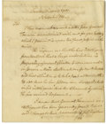 "Autographs:Statesmen, William Livingston Autograph Letter Signed ""Wil Livingston""as Governor of New Jersey, 1.5 pages, 7.5"" x 9"", front and v...(Total: 1 Item)"